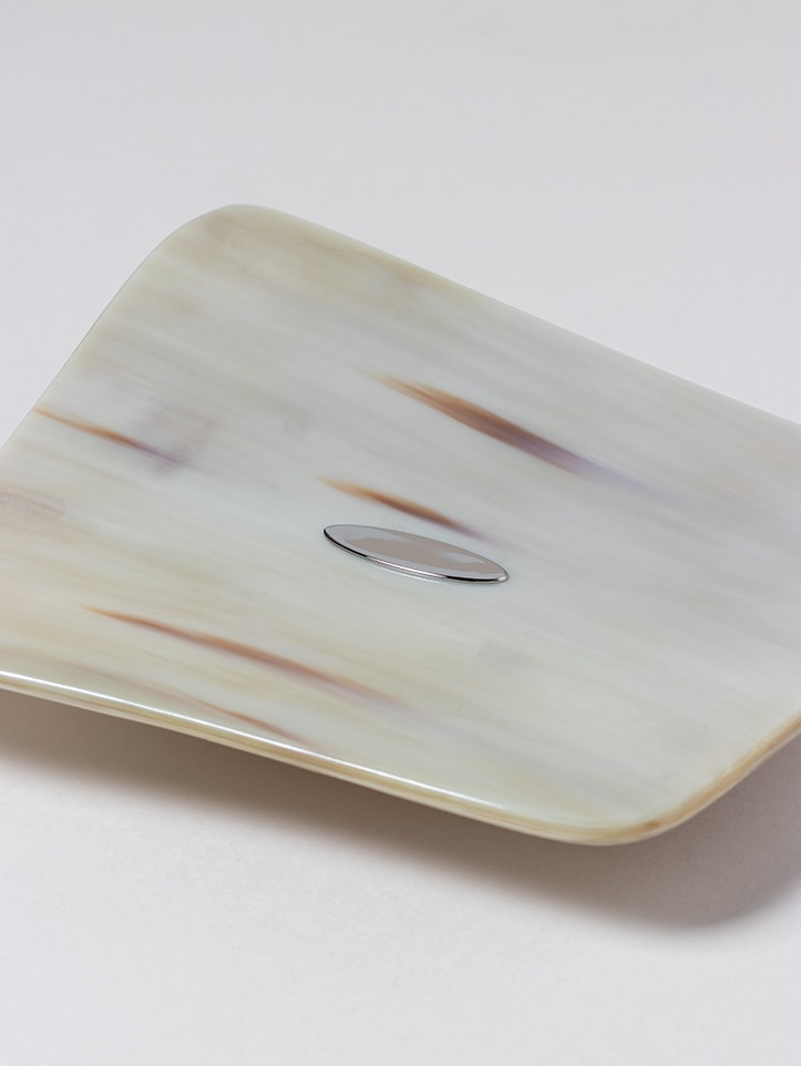 Natural Horn Tray handmade by Zanchi 1952